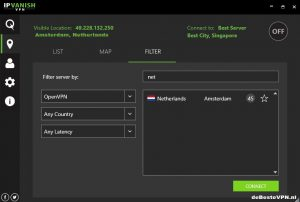 IPVanish Dashboard Nederland