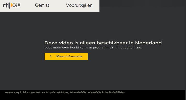 TV kijken in het buitenland geblokkeerd