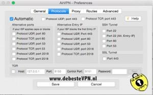 Protocols Airvpn