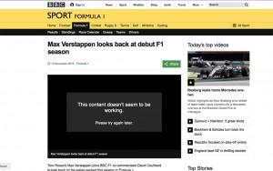 Max Verstappen BBC