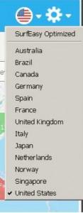SURFEASY VPN landen