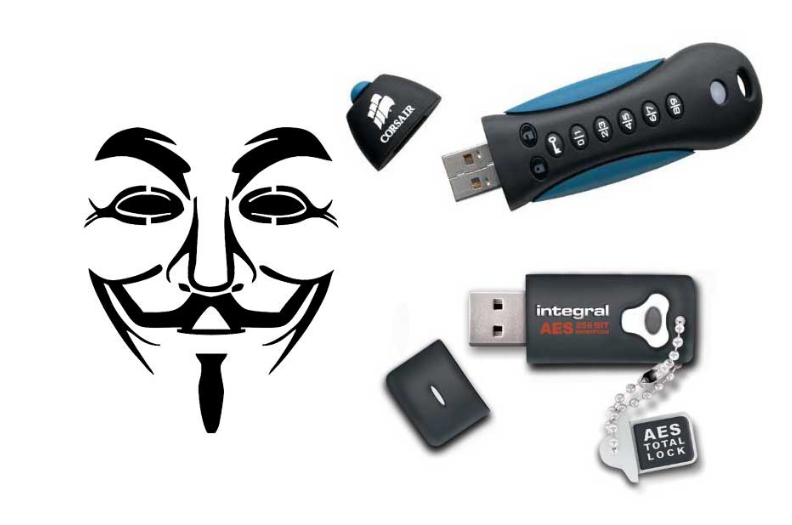 Encrypted USB-flashdrive