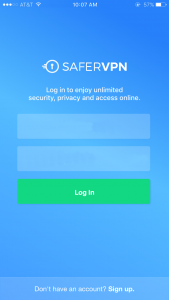 SaferVPN iOS devices