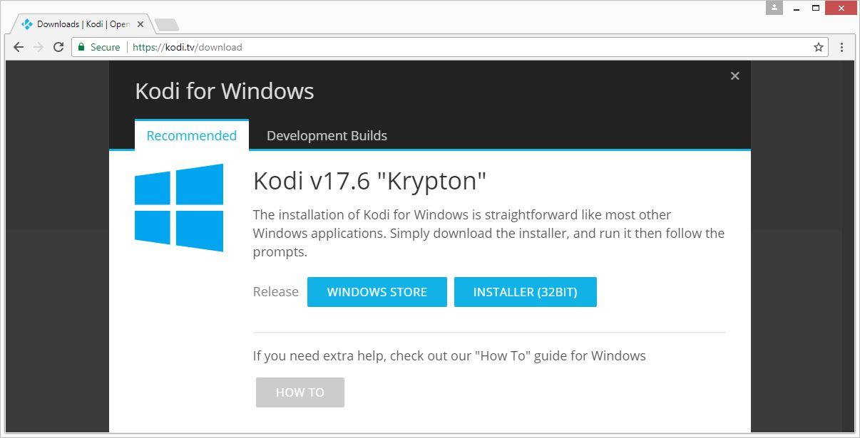 VPN voor Kodi installatieprogramma te downloaden