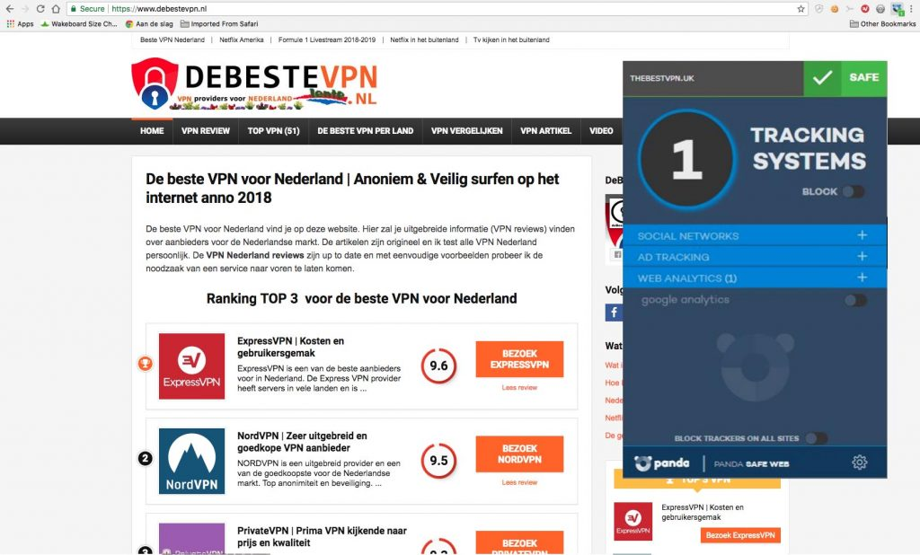 VPN Panda de vpn op de website
