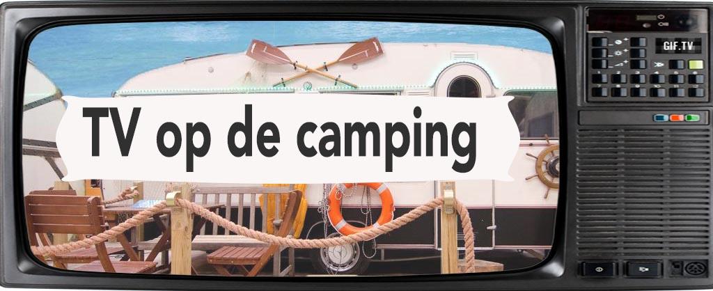 tv kijken op camping