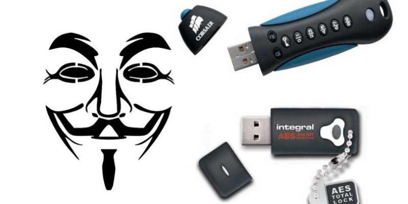 Encrypted USB-flashdrive | Een versleutelde USB-stick is extra beveiliging
