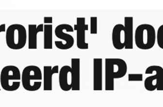 Je ID beschermen |  Terrorist door verkeerd IP-adres